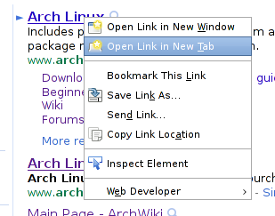 Firefox 3.6 open in tab
