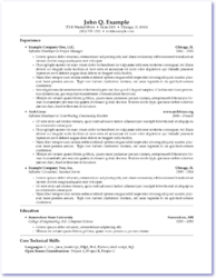 Sample LaTeX Résumé  Resume Latex Template